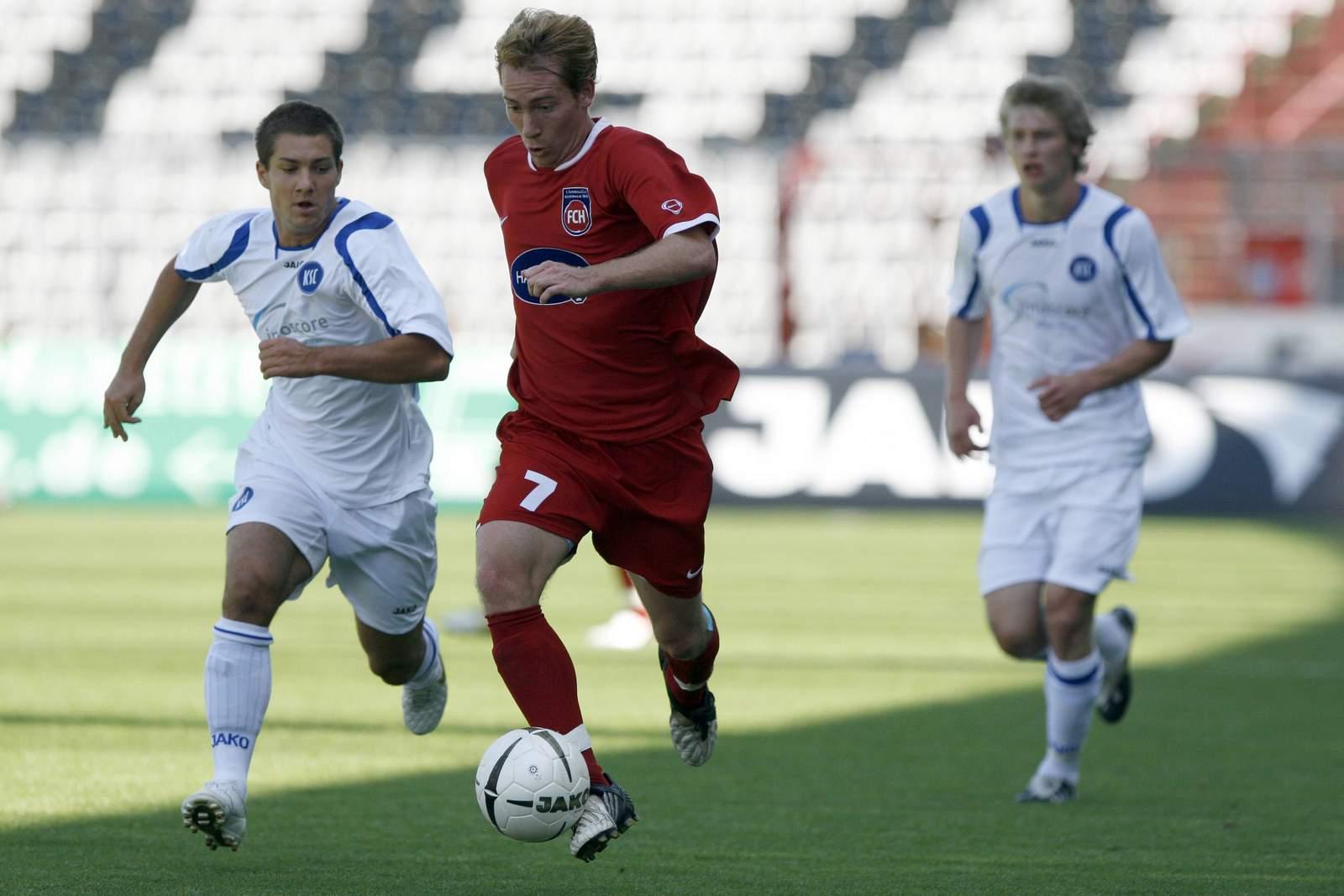 Marc Schnatterer gegen die zweite Mannschaft des KSC.