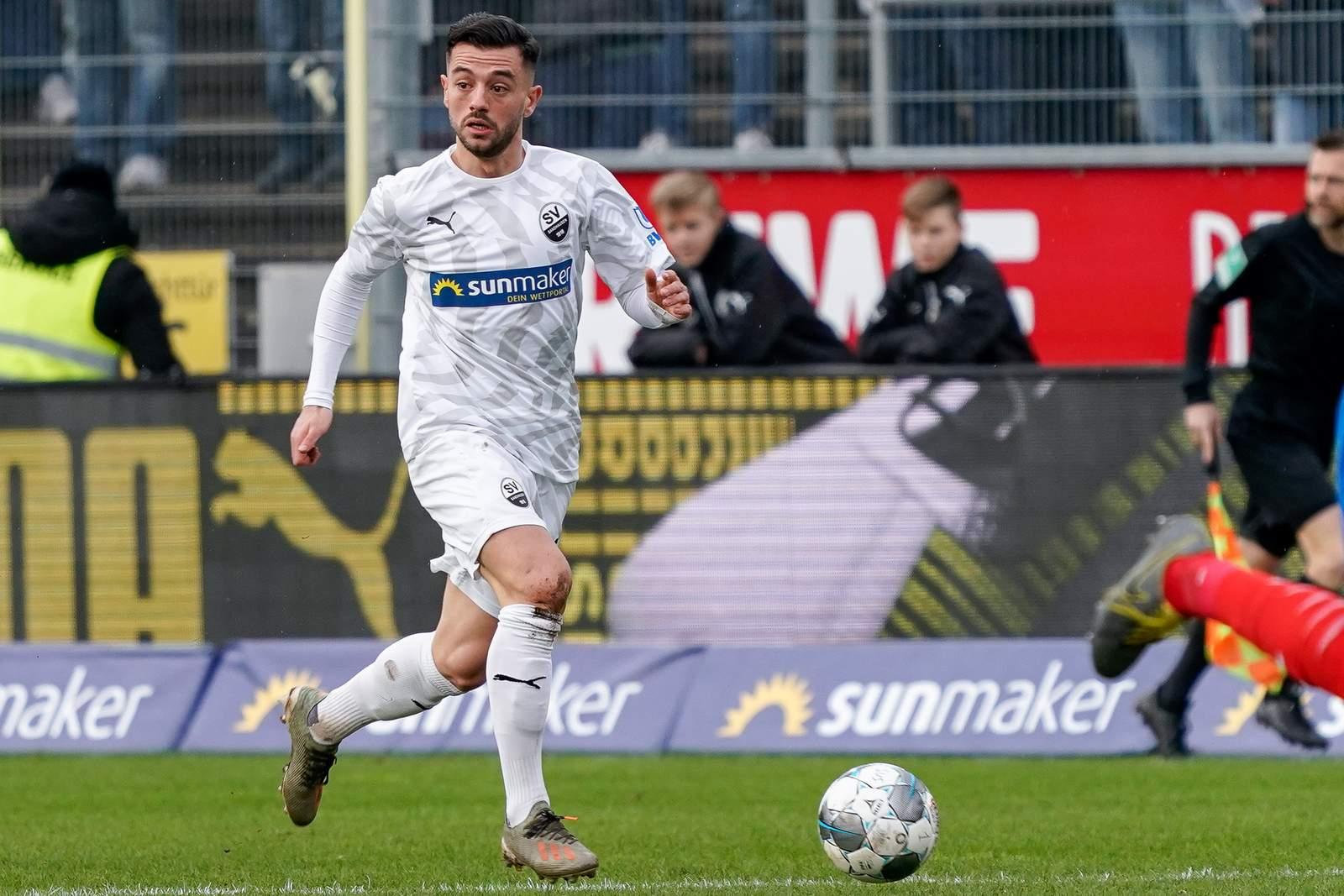 Besar Halimi gegen Kiel.