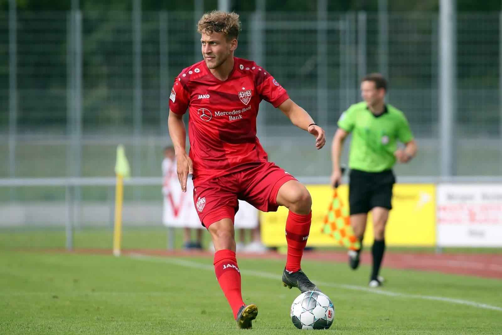 David Grözinger im Test gegen Zürich.