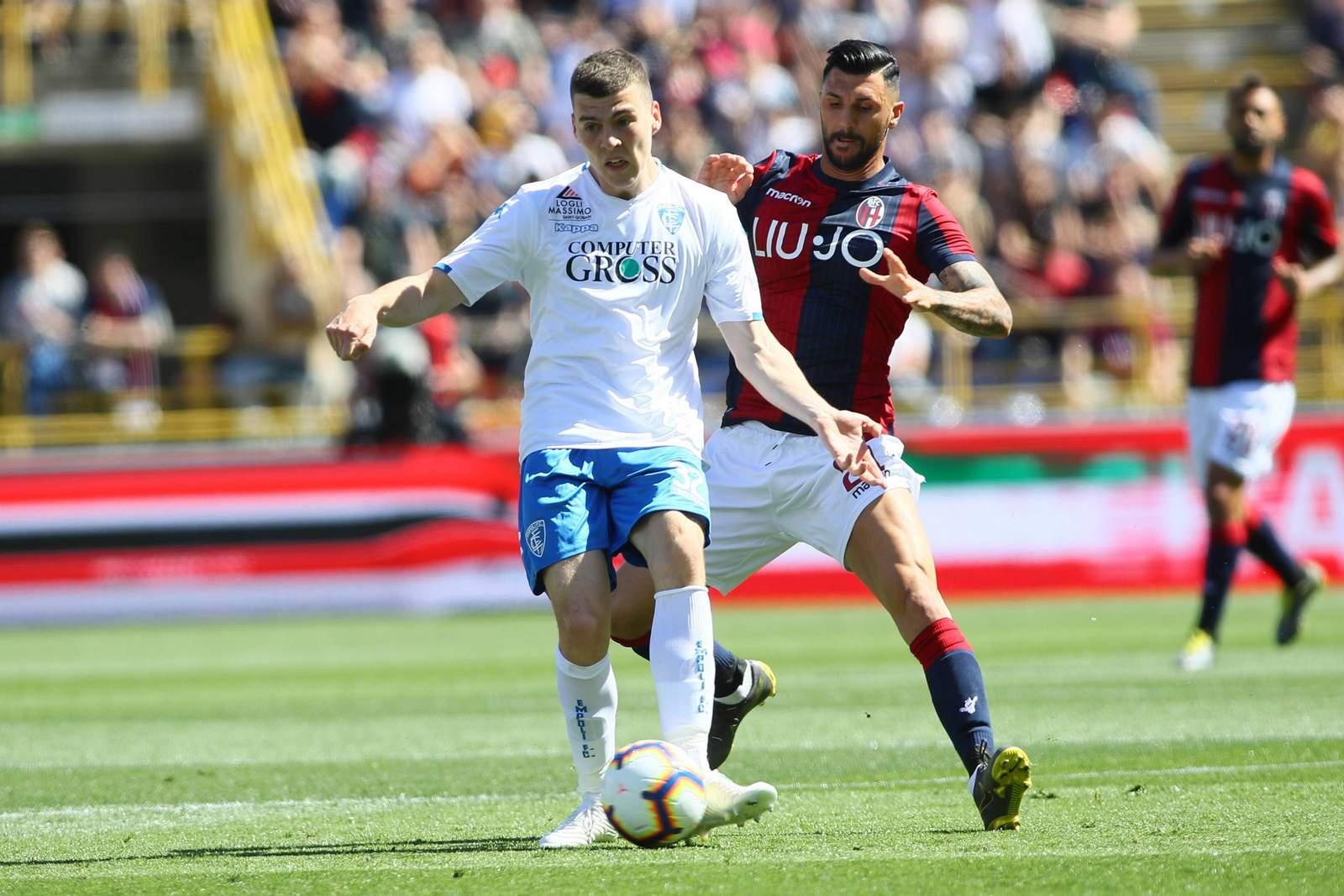 Jacob Rasmussen (l.) im Spiel gegen Bologna.