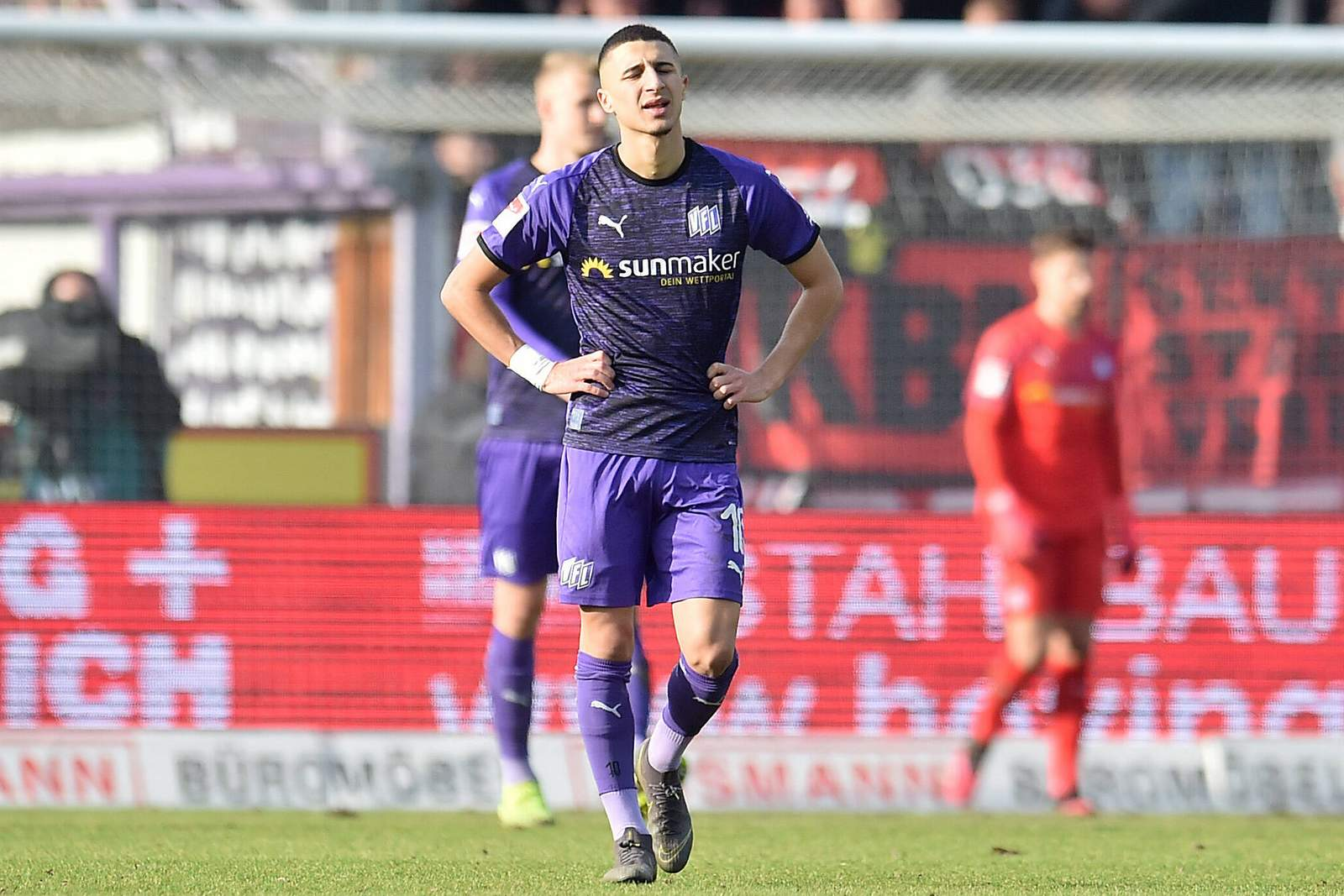 Anas Ouahim vom VfL Osnabrück ist enttäuscht