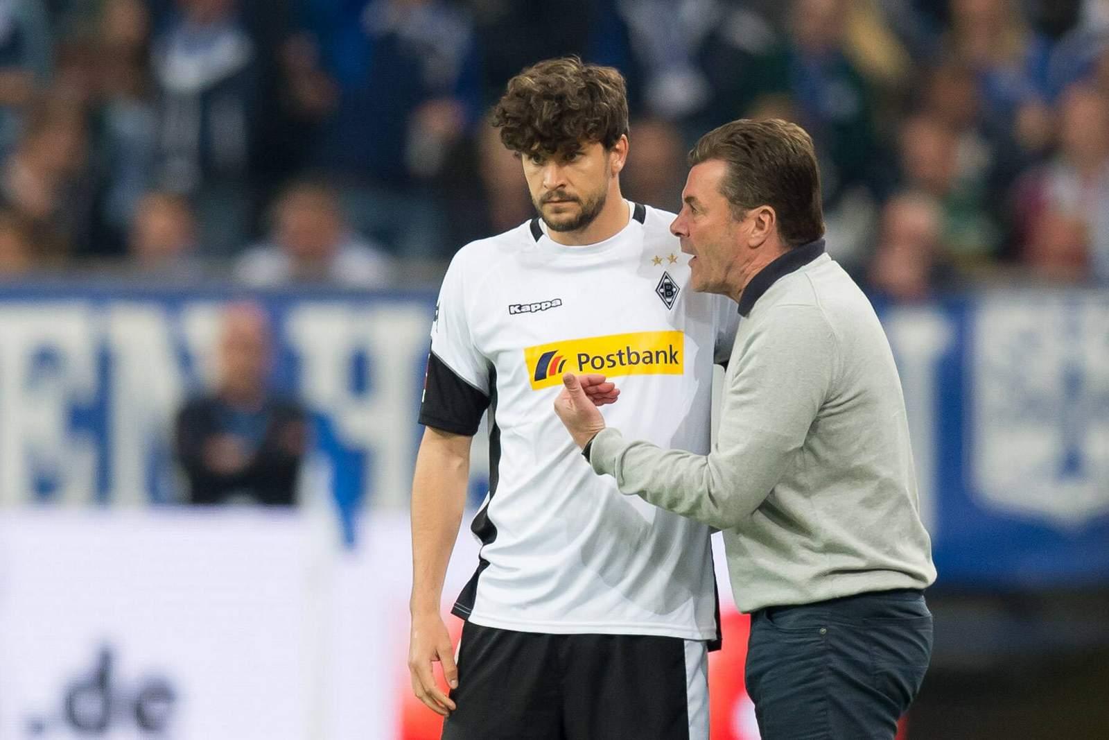 Tobias Strobl und Dieter Hecking bei Borussia Mönchengladbach