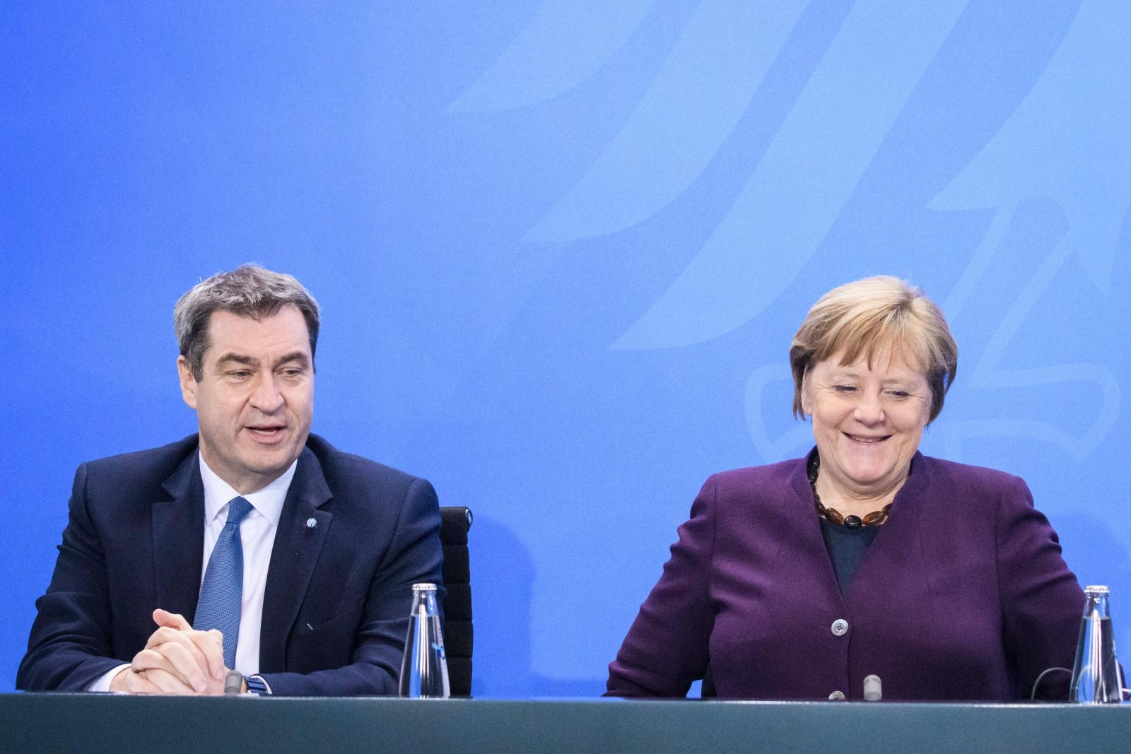 Markus Söder und Angela Merkel