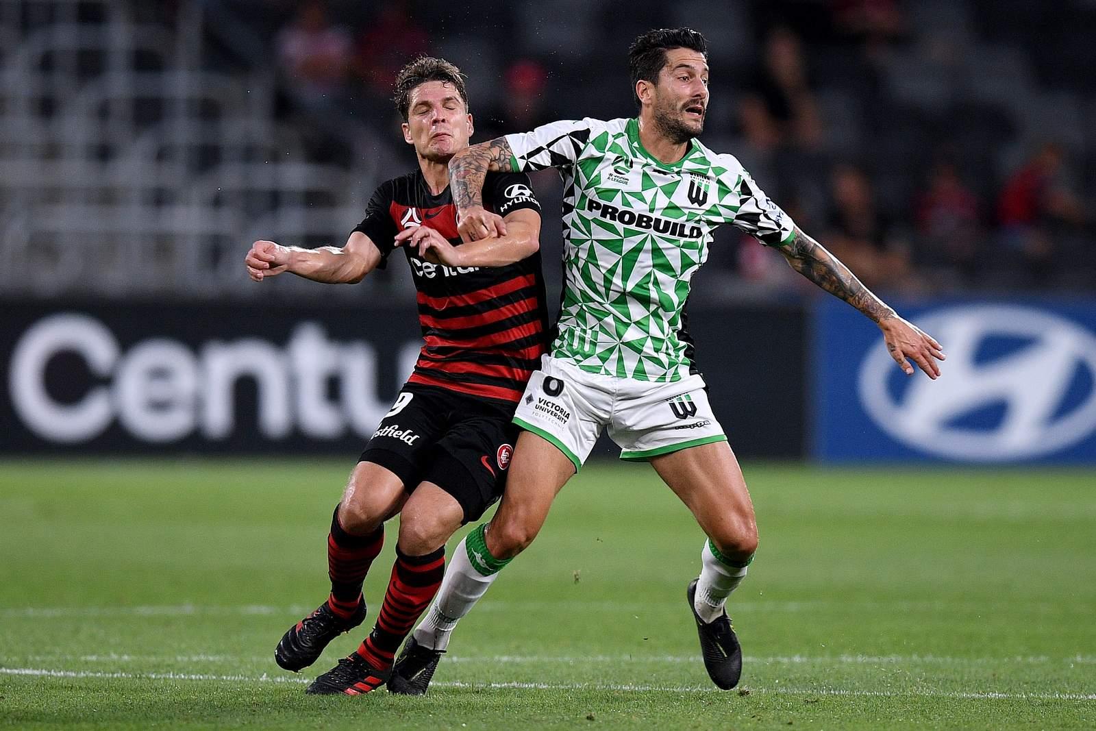 Pirmin Schwegler von den Wanderers im Spiel der A-League