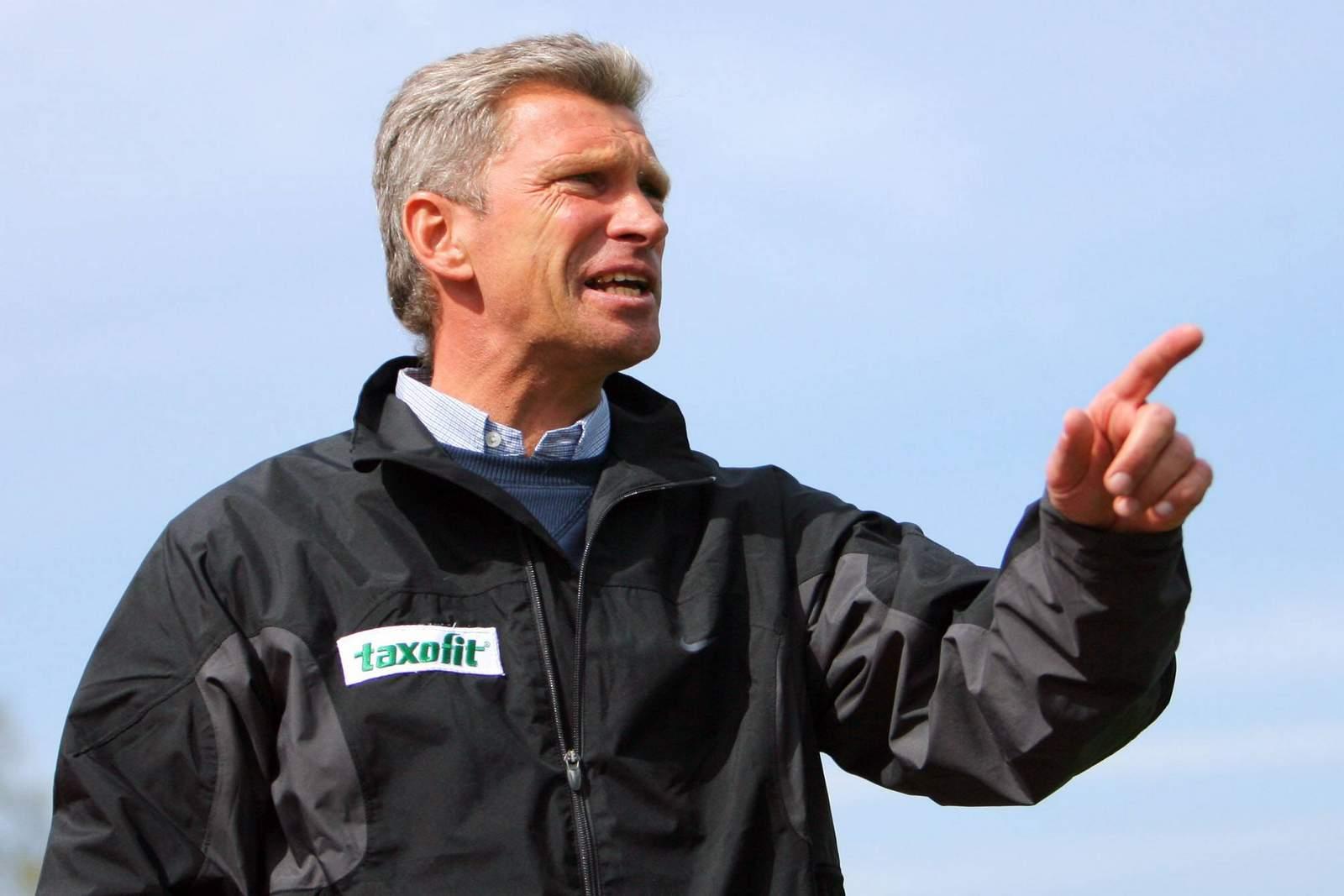 Christian Schreier in seiner Zeit als Trainer bei Union Berlin.