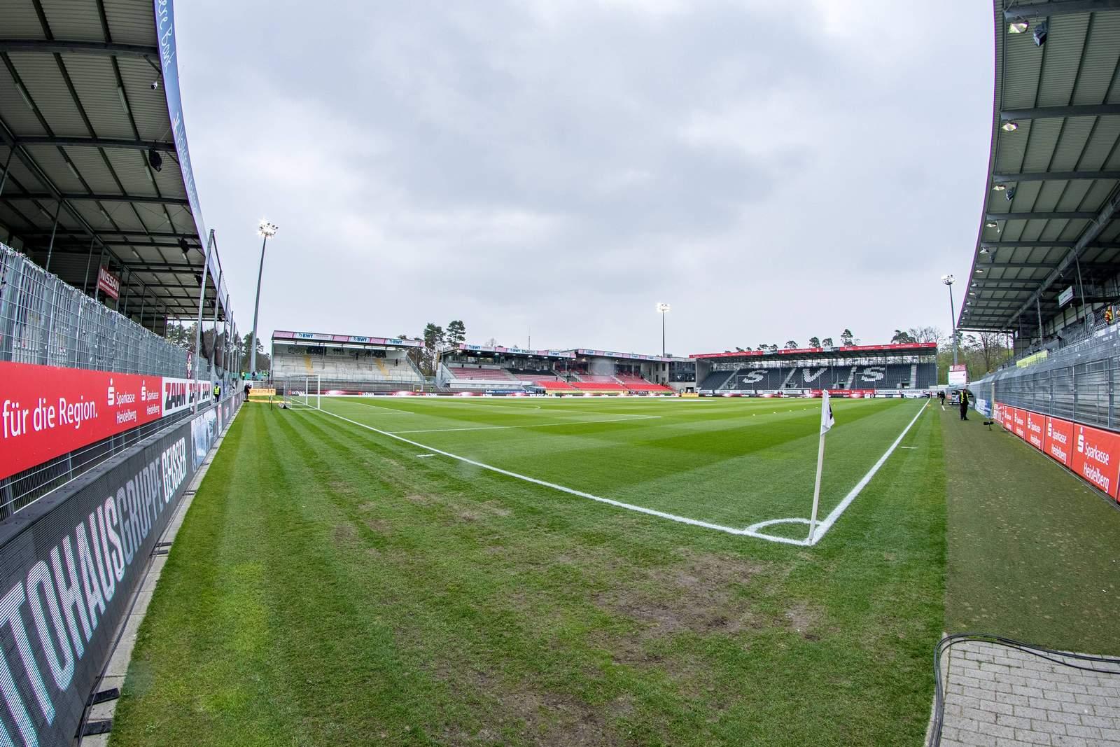 Hardtwald Stadion von Sandhausen