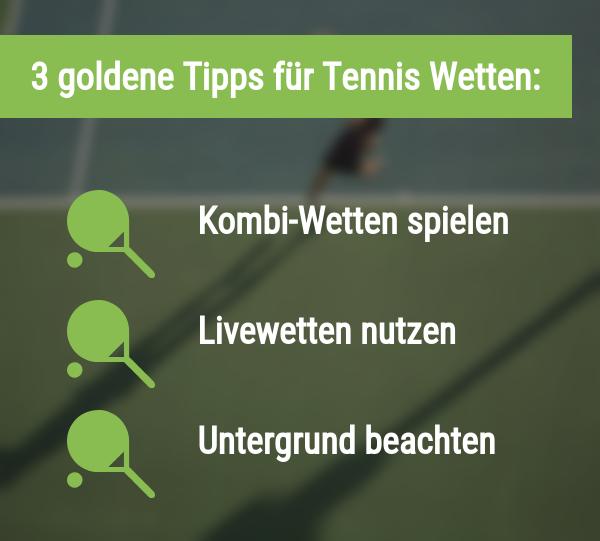 Tipps für Tennis Wetten