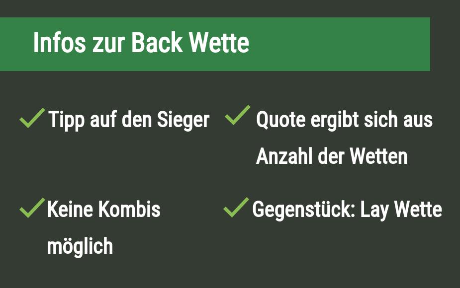 Back Wette Überblick