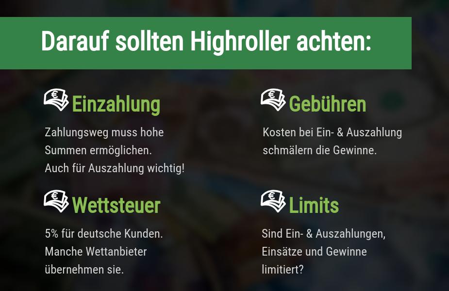 Tipps für Highroller