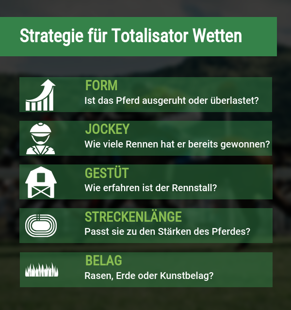 Totalisator Wetten Strategie