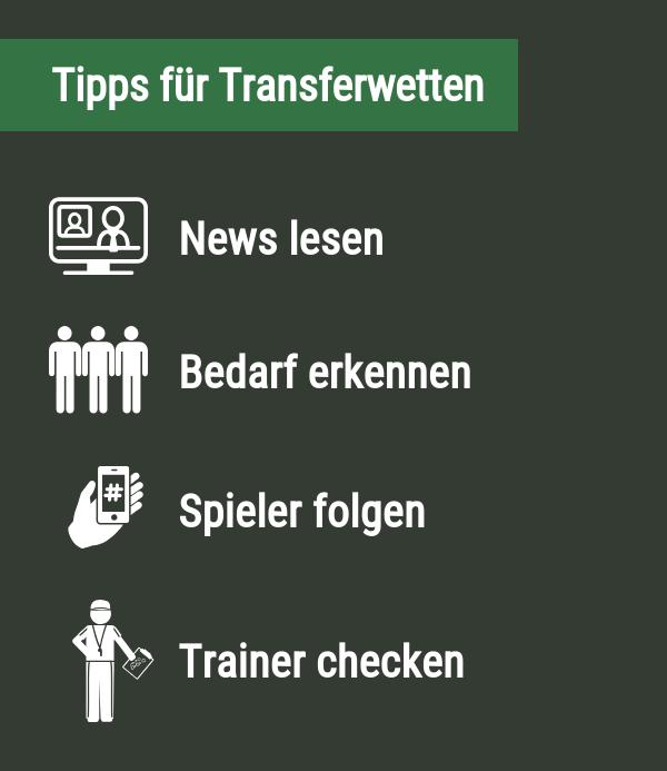 Tipps für Transferwetten