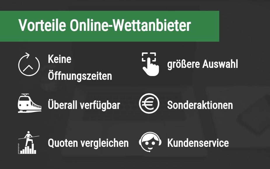 Vorteile Online Wettanbieter