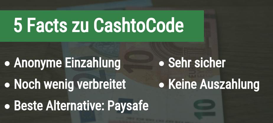 5 Fakten zu Cash-to-code