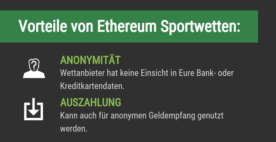 Vorteile von Ethereum Sportwetten