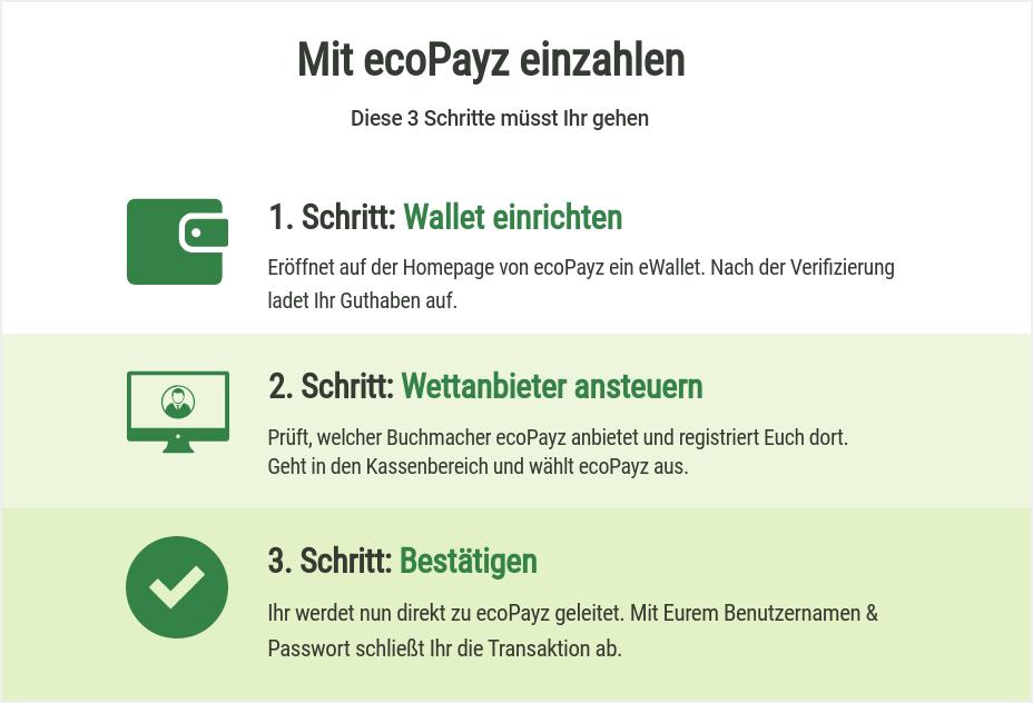 ecoPayz Einzahlung