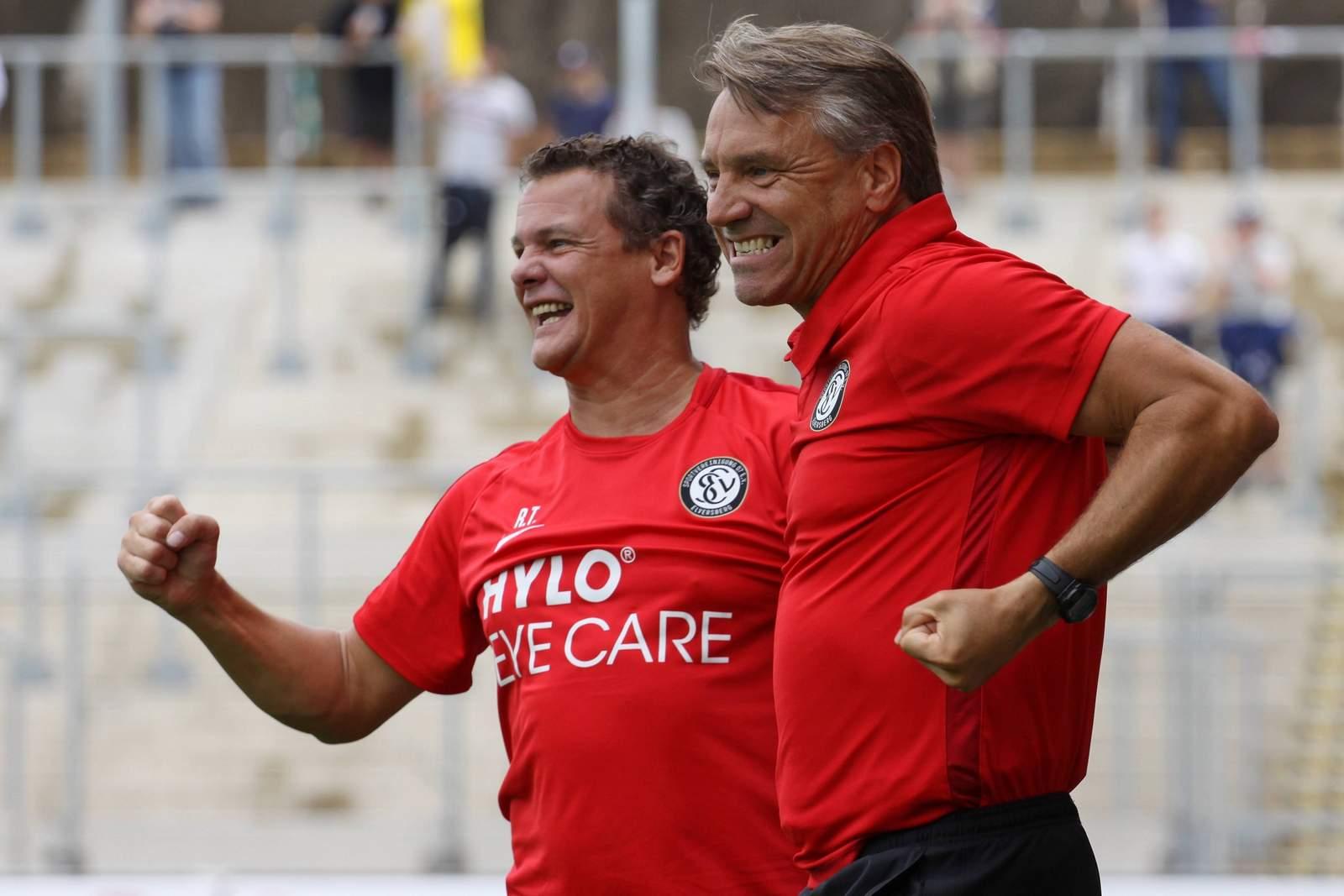 Horst Steffen und Rudi Thömmes vom SV Elversberg