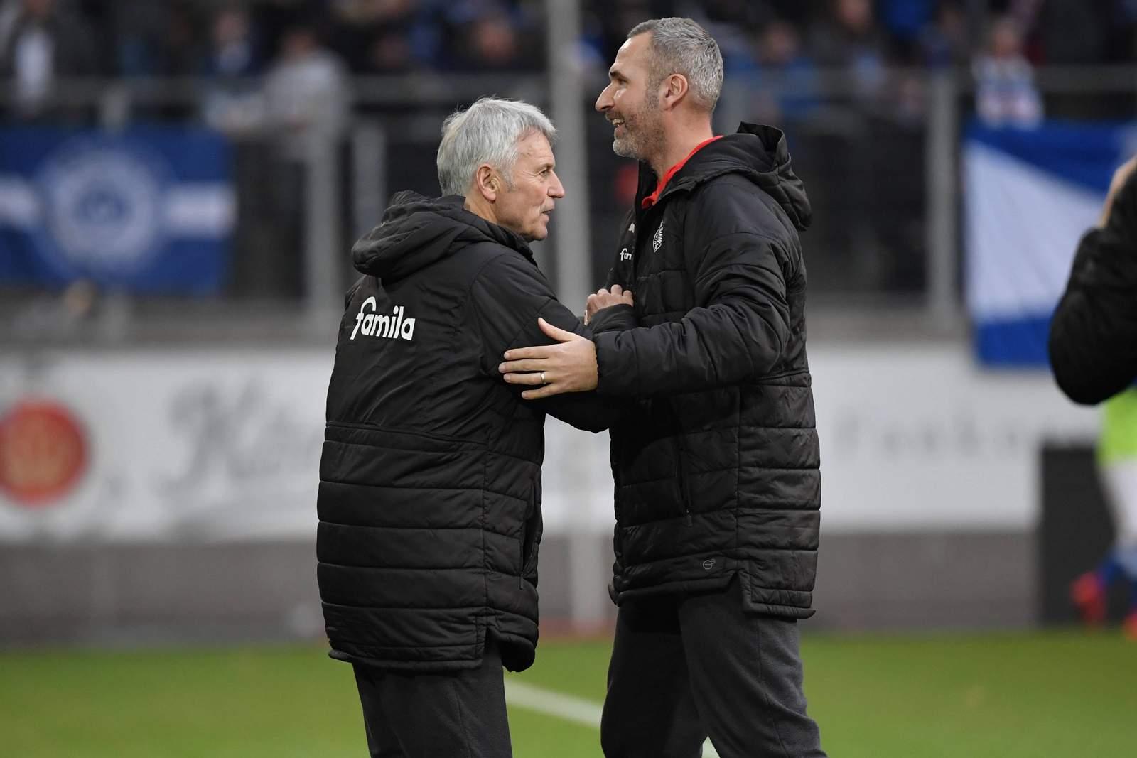 Rainer Ulrich und Tim Walter bei Holstein Kiel