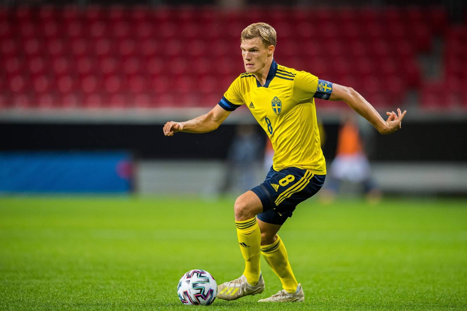 Svante Ingelsson bei einem Länderspiel für die Schweden U21