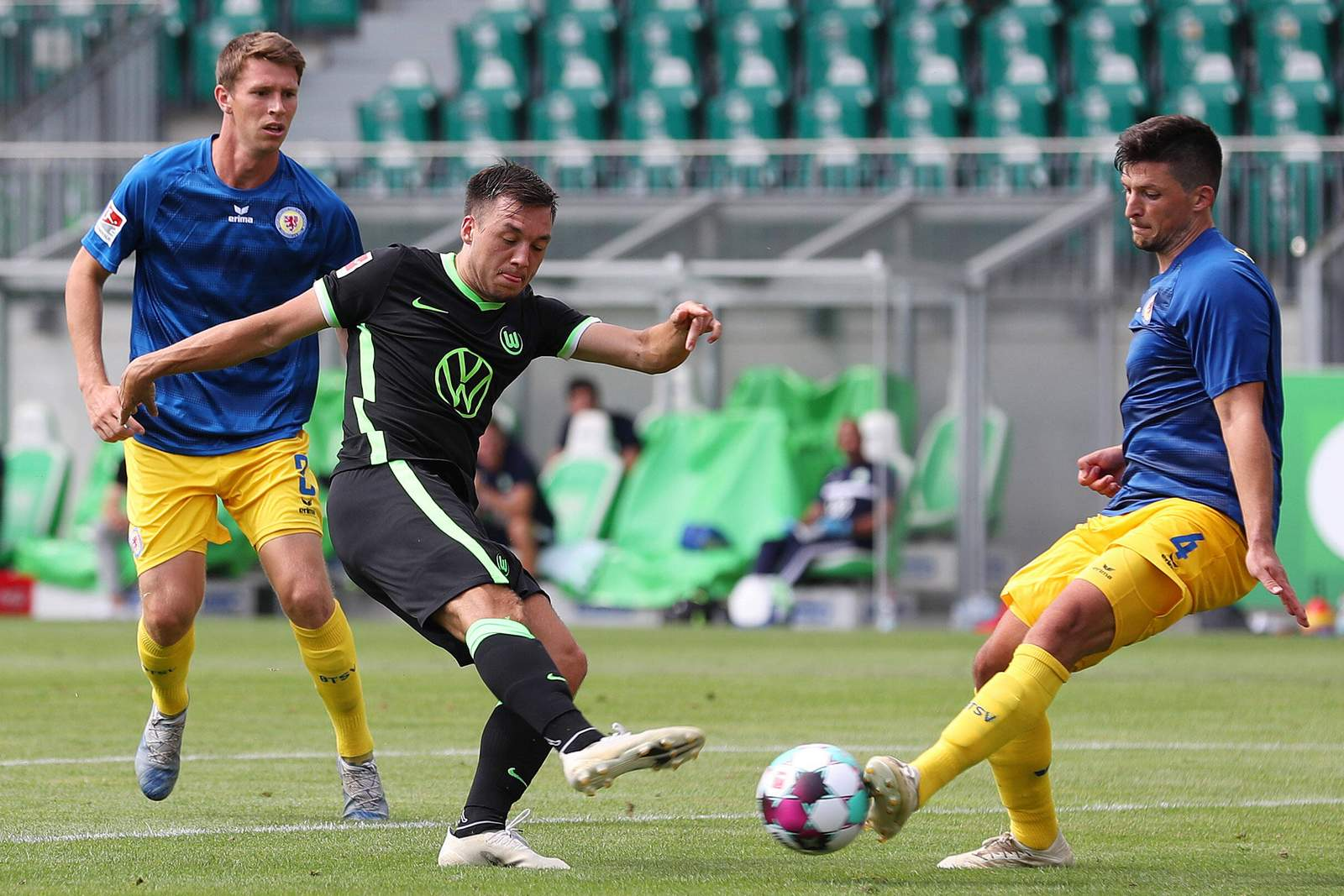 Julian Justvan im Test gegen Braunschweig.