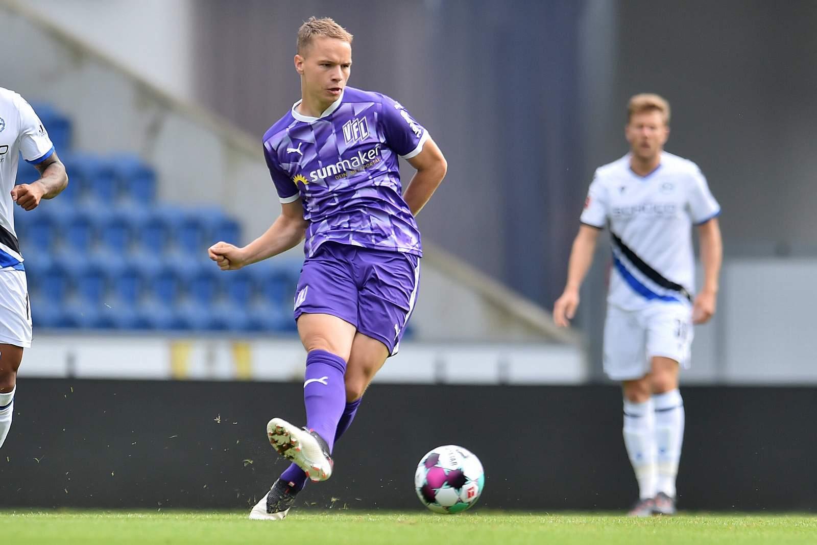 Niklas Schmidt im Test gegen Bielefeld.