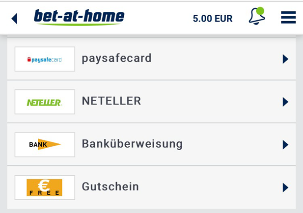 Gutschein bei bet-at-home