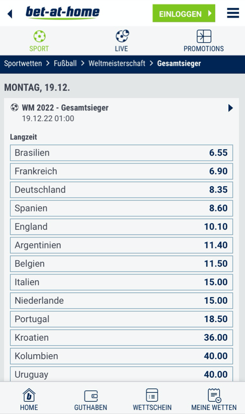 bet-at-home WM Wetten