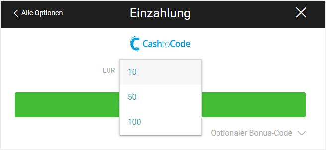 CashtoCode bei bwin