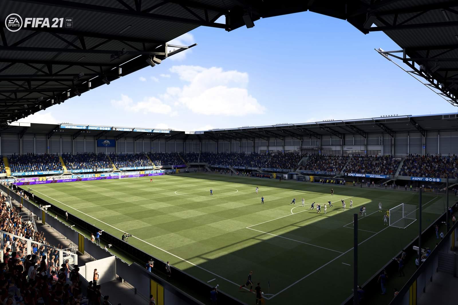 Die Benteler-Arena in FIFA 21.