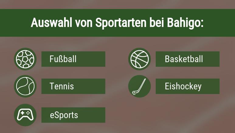Sportarten bei Bahigo