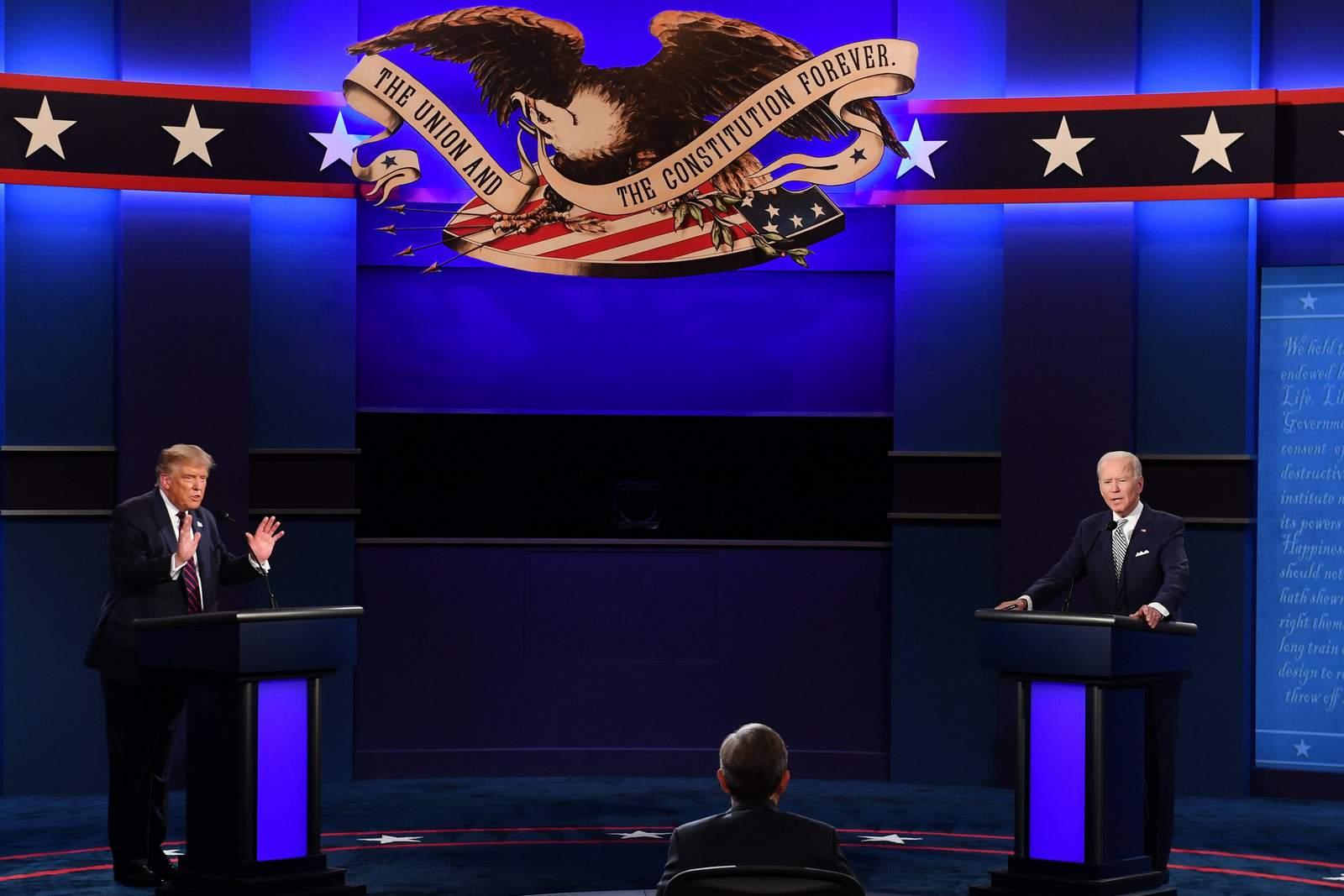 TV Duell zwischen Donald Trump und Joe Biden