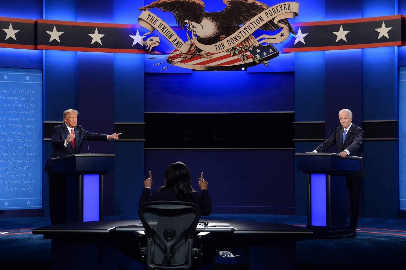 Donald Trump und Joe Biden beim zweiten TV Duell vor der US Wahl
