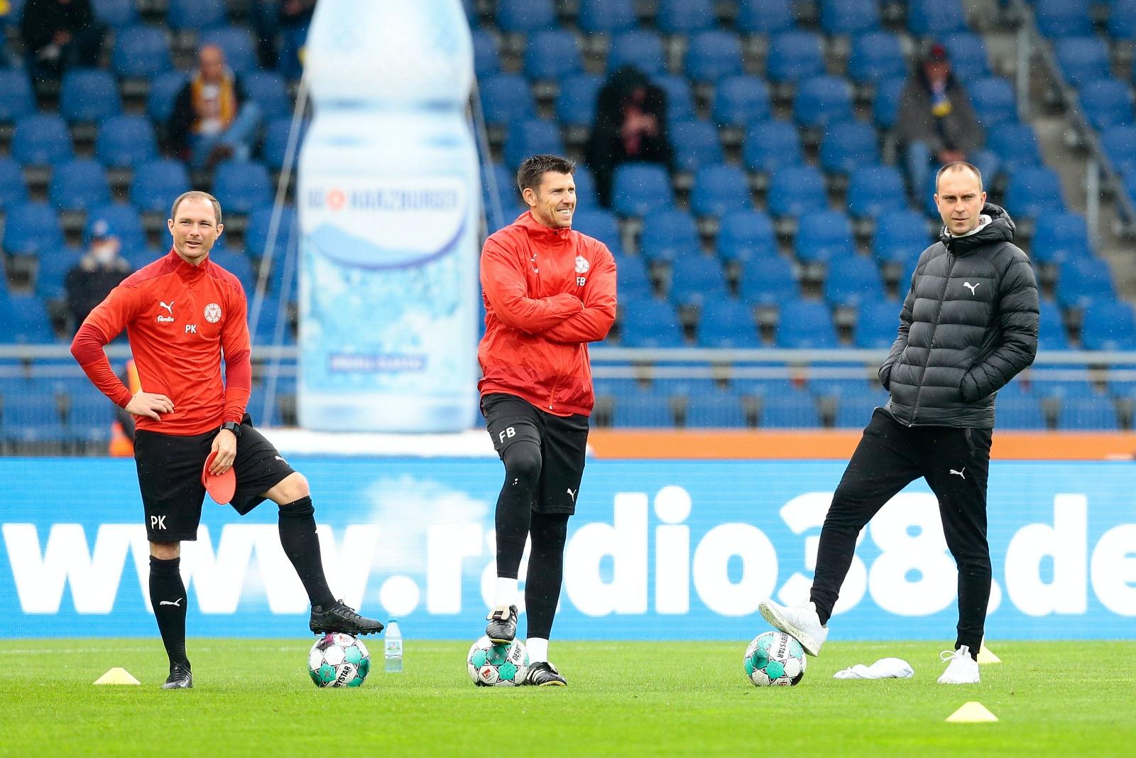 Patrick Kohlmann, Fabian Boll und Ole Werner bei Holstein Kiel