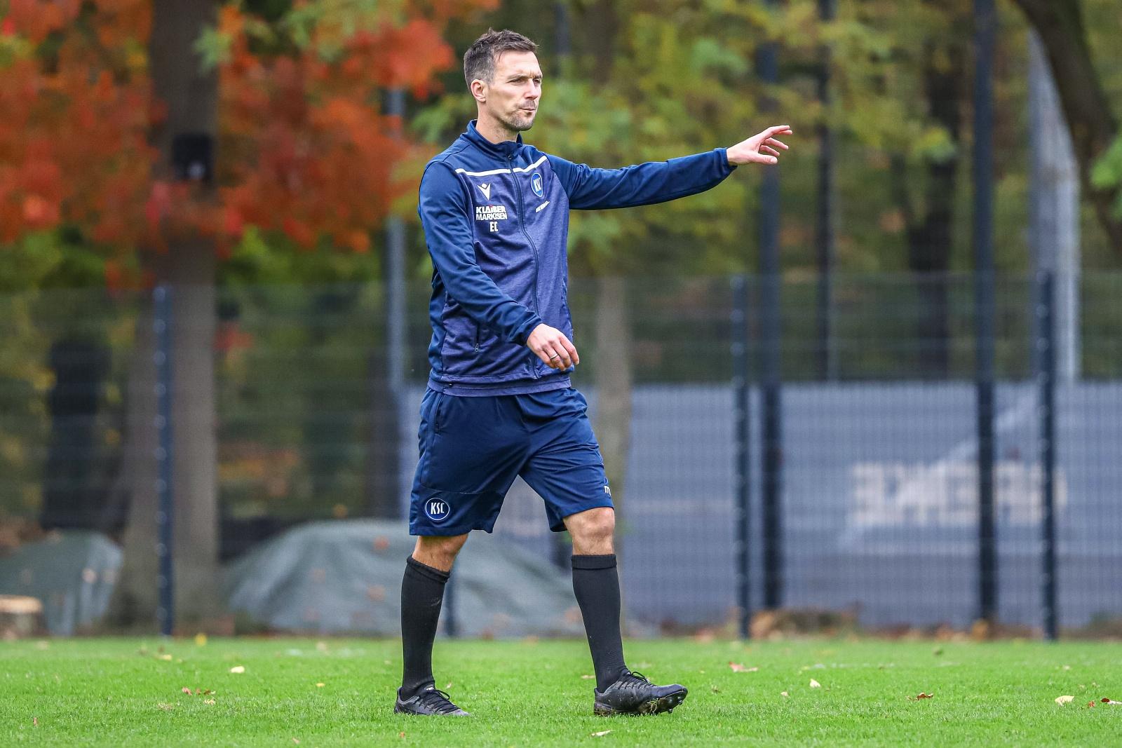 Christian Eichner beim KSC Training