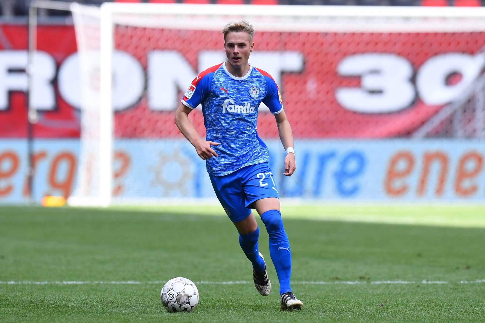 Finn Porath in der Vorbereitung gegen Twente Enschede.