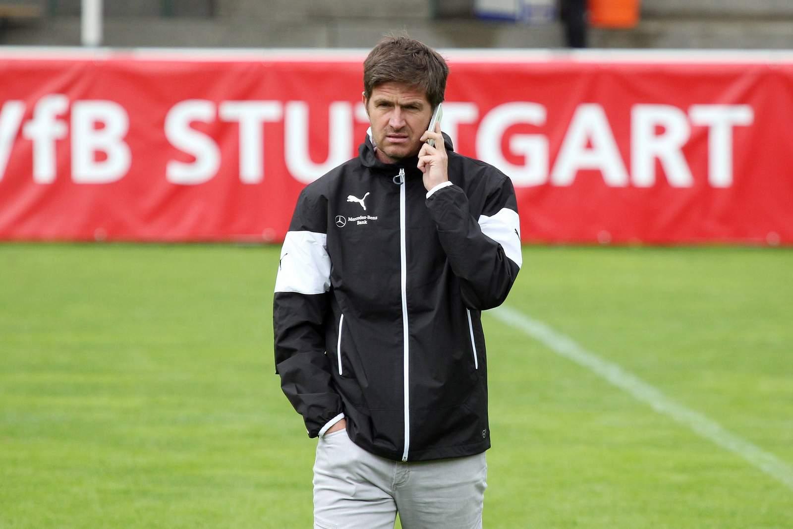 Ralf Becker als Scout vom VfB Stuttgart