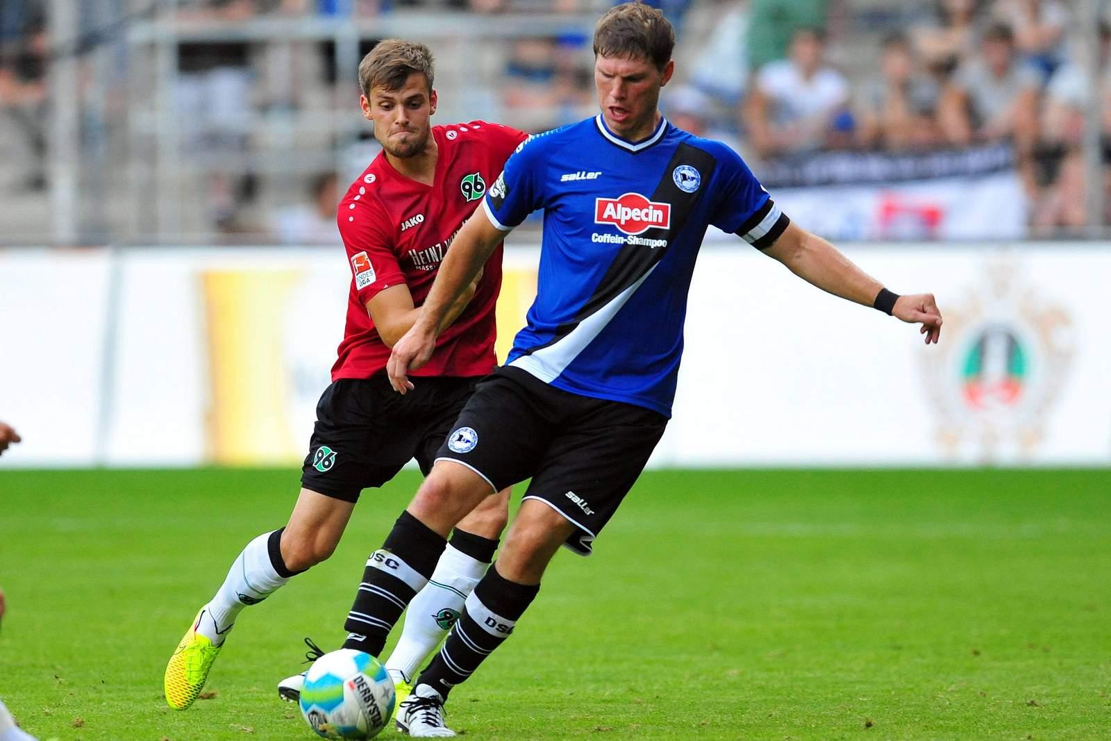 Fabian Klos, Torjäger von Arminia Bielefeld.