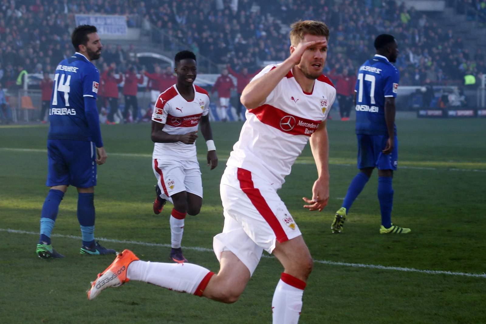 Simon Terodde, Top-Torjäger des VfB Stuttgart.